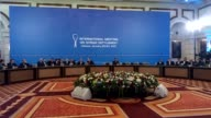 Peace talks aimed at ending the Syria conflict began Monday at a luxury hotel in Kazakhstan's capital Astana on January 23 2017 Fourteen...