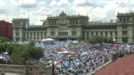 Peaceful demonstrators protesting against corruption and demanding a new political system the unprecedented popular crusade in Guatemala which...