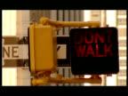 CU Pedestrian crossing sign saying Don't walk, USA