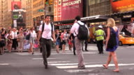 Pedestrian Crosswalk at Times Square New York City