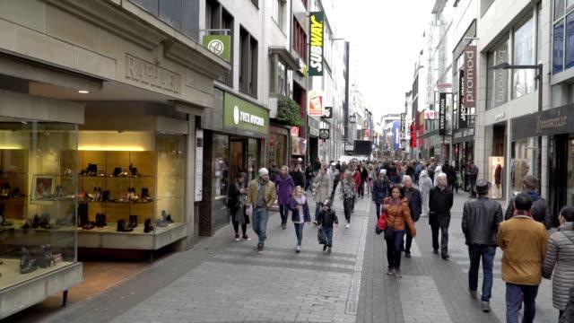 Voetganger druk op Shopping Zone