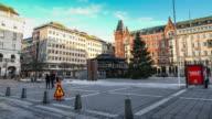 Pedestrian Crowded At Stockholm, Sweden