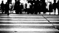 Fußgänger zu Fuß