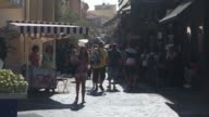 Pedestrians and tourists on the streets of Athens Greece on Sunday July 19 2015