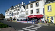 Pedestrians and traffic on the waterfront of Quiberon