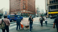 Pedestrians at Seventh and Broadway, Los Angeles