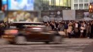Pedestrians at Shibuya
