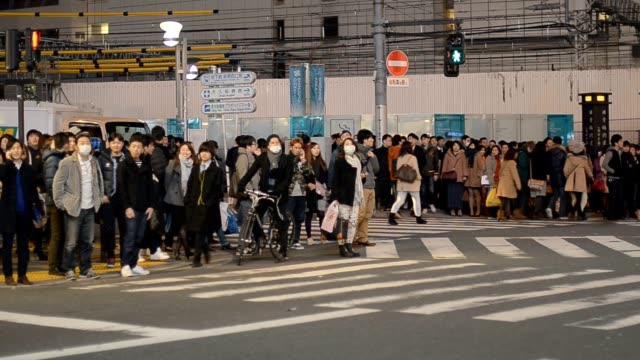 Pedestrians crosswalk at Shinjuku