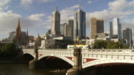 WS HA Pedestrians traffic on Princes Bridge / Melbourne, Victoria, Australia