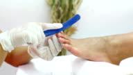Pedicure treatment.