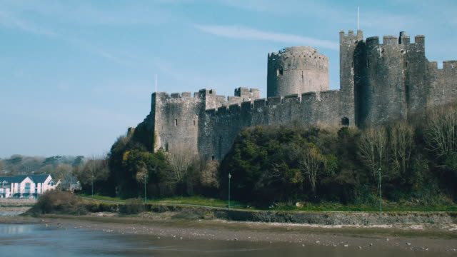MS Pembroke Castle in Wales / Pembroke, Wales, United Kingdom