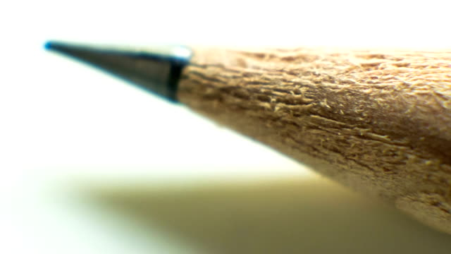 Pencil point close up.