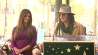 Penelope Cruz and Johnny Depp at the Penelope Cruz Honored With A Star On The Hollywood Walk Of Fame at Hollywood CA