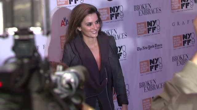 Penelope Cruz at the 'Broken Embraces' Premiere Closing Night of the New York Film Festival at New York NY