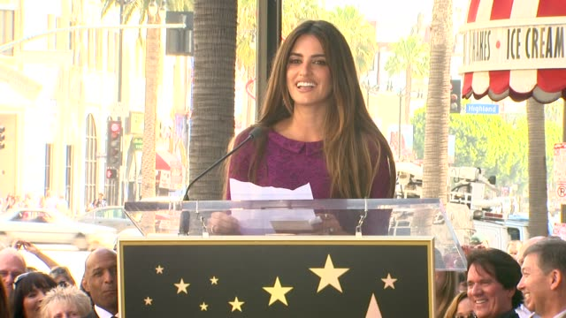 Penelope Cruz at the Penelope Cruz Honored With A Star On The Hollywood Walk Of Fame at Hollywood CA