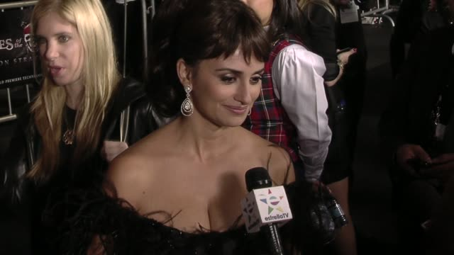 Penelope Cruz at the 'Pirates Of The Caribbean On Stranger Tides' Premiere at Anaheim CA