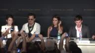 Penelope Cruz joins Johnny Depp and others at the Press Conference at the Pirate of the Caribbean On Strange Tides 64th Cannes Film Festival at Cannes