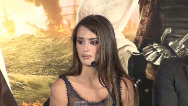 Penelope Cruz on being pregnant action Rob Marshall and more at the Pirates of the Caribbean On Stranger Tides Press Conference at London England