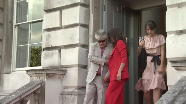 Penelope Cruz Pedro Almodovar at the Broken Embraces Film Four Summer Screen Premiere at London England