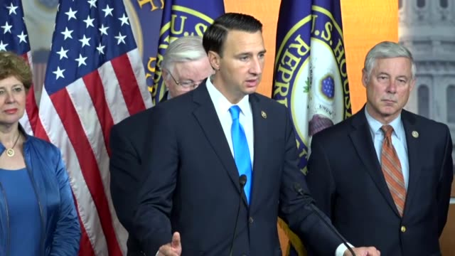 Pennsylvania Congressman Ryan Costello speaks a press conference with House Republicans pushing for legislation to extend the deferred action for...