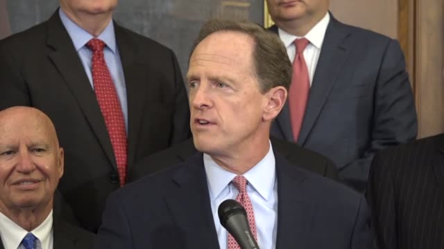 Pennsylvania Senator Pat Toomey says at a press conference with Congressional Republicans that a unified framework for tax reform would bring amazing...