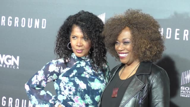 Penny Johnson Jerald Regina Taylor at the WGN America's Underground World Premiere at Ace Hotel in Los Angeles Celebrity Sightings on March 02 2016...