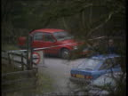 Susan Christie sentence increased Co Down TLMS Red car parked near spot where murder took place LS Parked cars and people at scene where murder took...