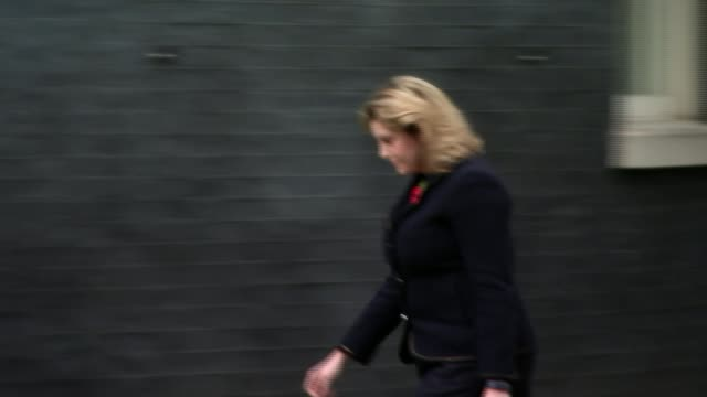 Penny Mordaunt replaces Priti Patel as International Development Secretary ENGLAND London Downing Street EXT Various of Penny Mordaunt MP arriving at...