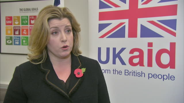 Penny Mourdaunt talking about her first day as International Development Secretary