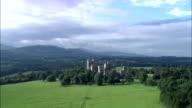 Castello di Penryhn Vista aerea-Galles, Regno Unito