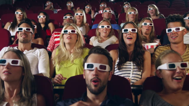 People 3d watching movie stock footage video getty images for People watching