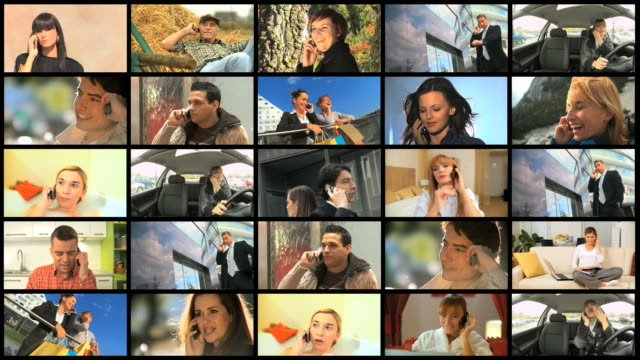 HD MONTAGE: People And Mobile Phones