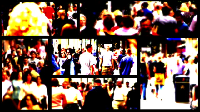 People and Shoppers Urban Lifestyle Montage. HD, NTSC, PAL