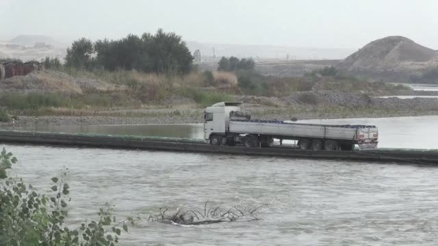 People and vehicles on Monday were crossing between Iraq and Syria's Kurdish regions at the Semalka crossing