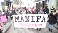 People are seen participating in a rally for more fair treatment of women on 4 March 2017 in Bydgoszcz Poland The current conservative government has...