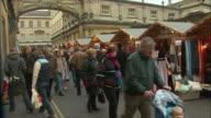 WS People at Christmas market / Bath, Somerset, United Kingdom