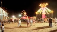 T/L WS People at fair at night / Flagstaff, Arizona, USA