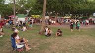 WS PAN People at Mindil beach sunset market / Darwin, Northern Territory, Australia