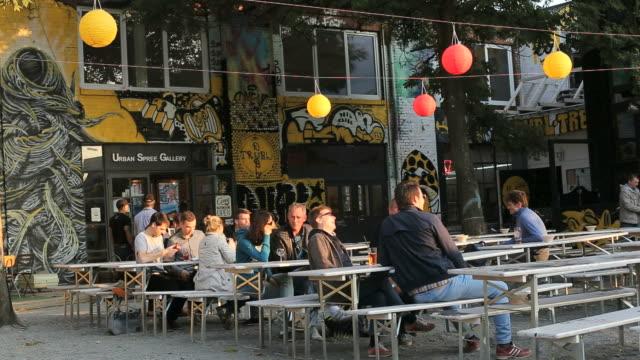 People at Urban Spree Galerie Café, friedrichshain, Berlin