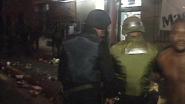KTLA People Being Arrested During LA Riots on April 29 1992 in Los Angeles California