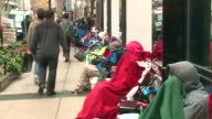 WGN People Camped Outside In Line For Michael Jordan Store Opening in Chicago