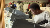 MS, People casting their votes at electronic voting machines, Toledo, Ohio, USA