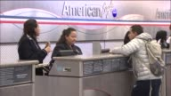 WGN People Checking In At American Airlines Terminal at O'Hare International Airport on January 08 2014 in Chicago Illinois