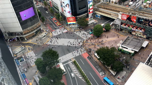 People cross Shibuya junction on September 06 2017 in Tokyo Japan