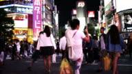 People Crossing the Road at Shibuya Japan