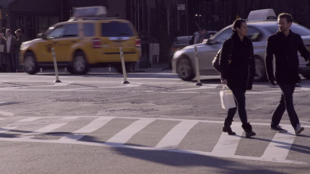 People Crossing the Street in the West Village