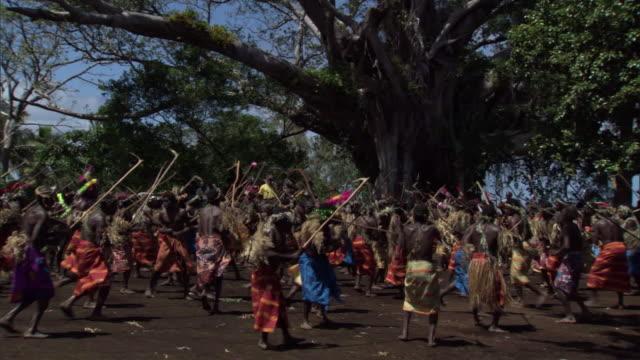People dance at tribal Toka festival, Tanna Island, Vanuatu