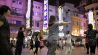 MS People dancing in Nanjing Dong Road AUDIO / Shanghai,  China