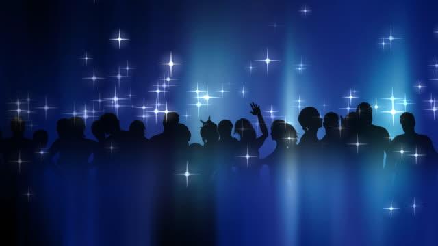 Persone di danza con stelle e Silhouette