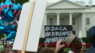 People demonstrate against the Trump administration decision to scrap the Deferred Action for Childhood Arrivals scheme allowing 'dreamers' young...